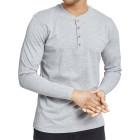 Mens Henley Long T-shirt Cuerpo Grey