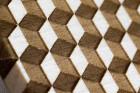 BeWooden Pánský dřevěný motýlek Cubo bílá