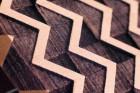 BeWooden Pánský dřevěný motýlek Trio hnědá